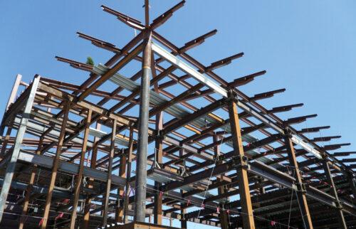 اسکلت فلزی یا سازه فولادی